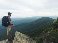Enjoying those green, lovely VA mountains before we flip up to Maine!