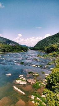 Approaching Harpers Ferry -- crossing that Potomac!