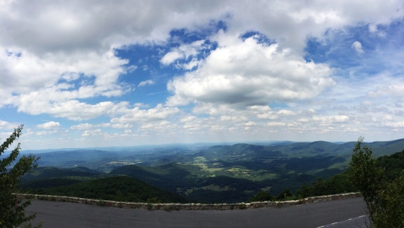 A view from an over look on Skyline Drive in Shenandoah. The AT intersects with the road many times in VA.